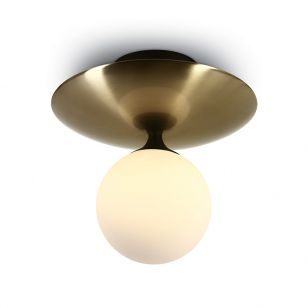 Oracle Semi-Flush Ceiling Light - Brushed Brass