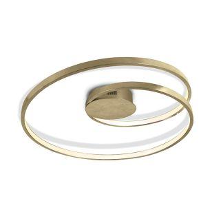Swirl LED Ceiling Flush Light - Brushed Brass