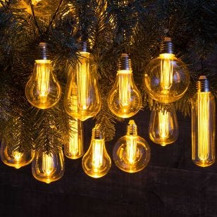 Connectable Filament Bulb LED Festoon Lights - 10 Lights