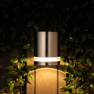 Level Solar LED Wall Light - Stainless Steel