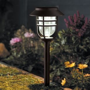 Avant Lantern Solar LED Stake Lights - Grey - Set of 5