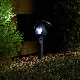 Prima Solar LED Spotlights - Black - Set of 4