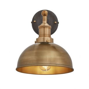 Industville Brooklyn Dome Wall Light - Brass