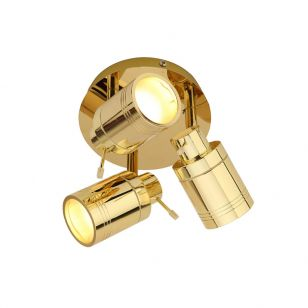 Edit Scorpius 3 Light SpotLight Plate - Brass