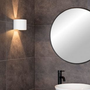 Lucide Axi Curve Bathroom LED Up & Down Wall Light  - White
