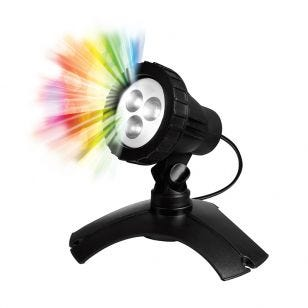 Pond Multi Coloured LED Underwater Spotlight - Black