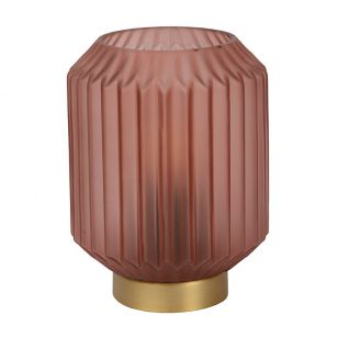 Lucide Sueno Glass Table Lamp - Pink