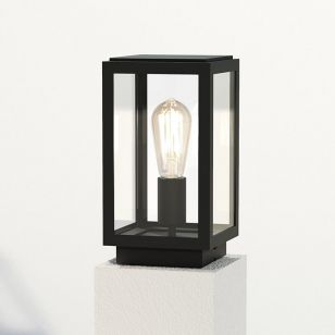 Astro Homefield Outdoor Pedestal Light - Textured Black