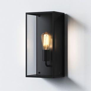 Astro Messina 200 Half Lantern Outdoor Wall Light - Textured Black