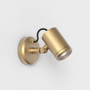 Astro Coastal Jura Outdoor Wall Mounted Spotlight - Brass