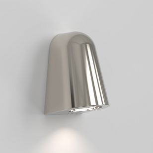 Astro Coastal Mast Outdoor Wall Light - Polished Nickel