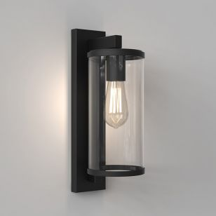 Astro Pimlico 400 Outdoor Lantern Wall Light - Textured Black