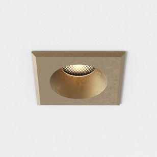 Astro Coastal Solway Square Soffit Outdoor Recessed Downlight - Brass
