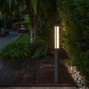 Faro Barcelona Logar 900 LED Outdoor Post Light - Dark Grey