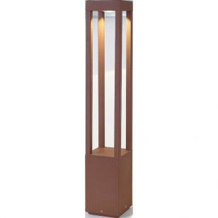 Faro Barcelona Agra LED Outdoor Bollard Light - Rust Brown