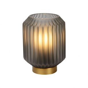 Lucide Sueno Glass Table Lamp - Satin Grey