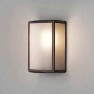Astro Homefield Half Lantern Outdoor Wall Light with Microwave Sensor - Bronze