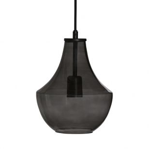 Edit Hamilton Glass Ceiling Pendant Light - Smoked
