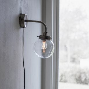Edit Normandy Wall Light with Plug - Gold