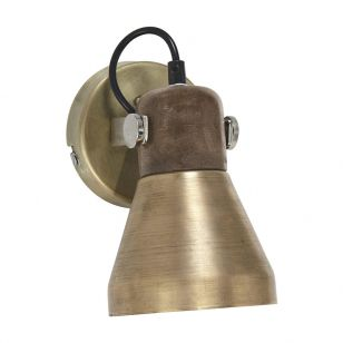 Edit Ashby Wall Spotlight with Plug- Gold