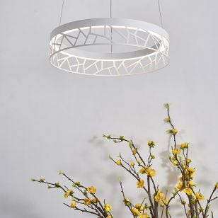 Edit Mosaic LED Ceiling Pendant Light - Matt White