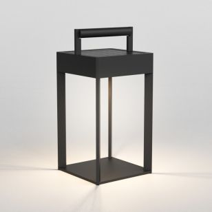 Astro Kuro 250 Solar LED Outdoor Feature Lantern - Textured Black