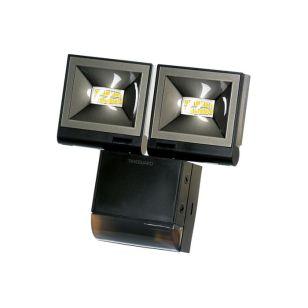 Timeguard 2 x 10W Cool White LED Floodlight with PIR Sensor - Black