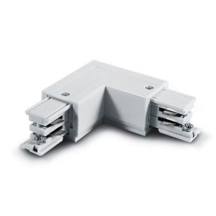 3 Circuit Left Corner Connector - White