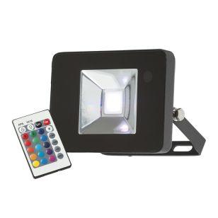 Knightsbridge 10W RGB LED Remote Controlled Floodlight