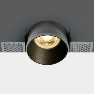 Decorative Trimless Fixed Downlight - Black