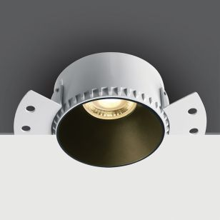 Air Round Trimless Fixed Plaster-In Downlight