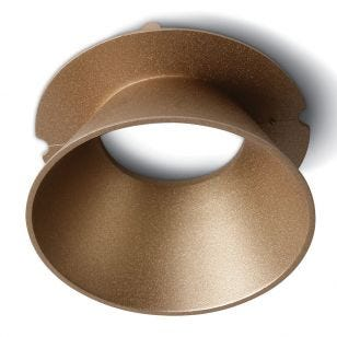 Air Round Reflector for Trimless Plaster In Downlight - Brass