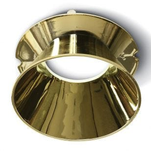 Round Reflector for Trimless Plaster In Downlight - Gold