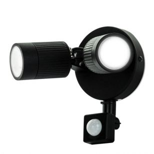 Luceco 10W Cool White LED Twin Floodlight with PIR