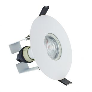 Integral EvoFire Fire Rated Low Profile 70-100mm Cut Out Fixed Downlight with Insulation Guard - White