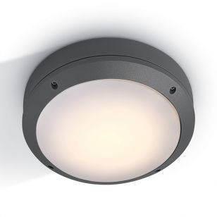 Guard Outdoor Round Flush Light - Anthracite