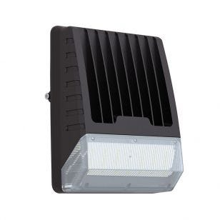 Tough Compact 50W Cool White LED Wall Pack with Dusk to Dawn Sensor