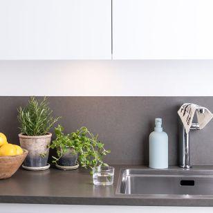 Combine Round 4W Warm White LED Cabinet Light - White