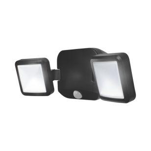 Ledvance Battery LED Twin Floodlight with PIR Sensor - Black