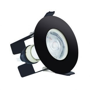 Integral EvoFire Fire Rated Low Profile Fixed Downlight with Insulation Guard - Black