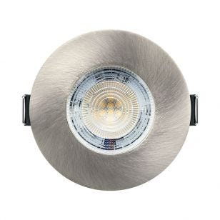 Integral Evofire+ 3.8W Warm White Dimmable LED Fire Rated Fixed Downlight - Satin Nickel