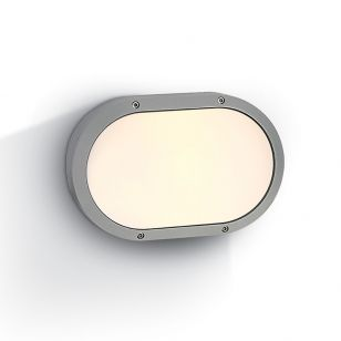 Guard Outdoor Oval Flush Light - Grey