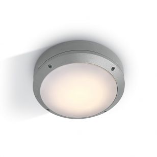 Guard Outdoor Round Flush Light - Grey