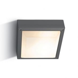 Guard Outdoor Large Square Flush Light - Anthracite