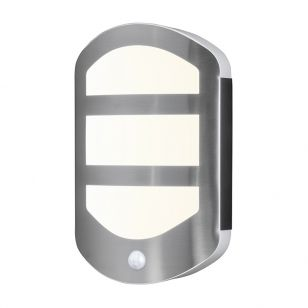 Ledvance Endura Plate 13W Warm White LED Outdoor Wall Light with PIR Sensor - Stainless Steel