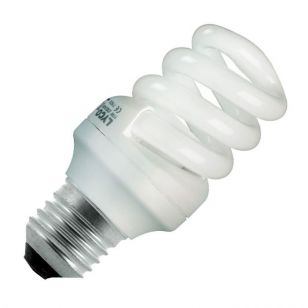 15W Compact Spiral - Screw - Warm White