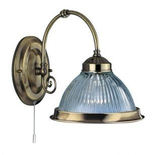 Searchlight American Diner Wall Light - Antique Brass