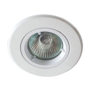 Robus Fire Rated Fixed Downlight - Matt White