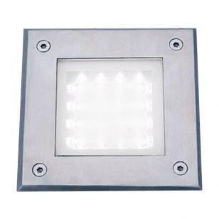 Searchlight Stratford Cool White LED Outdoor Recessed Square Light