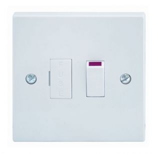 White Moulded 13A Switched Spur